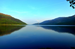 a peaceful loch in scotland